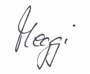 Meggi Unterschrift